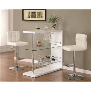 Sleek Contemporary Bar Set with Stools