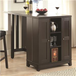 Coaster Bar Units and Bar Tables Counter Height Table