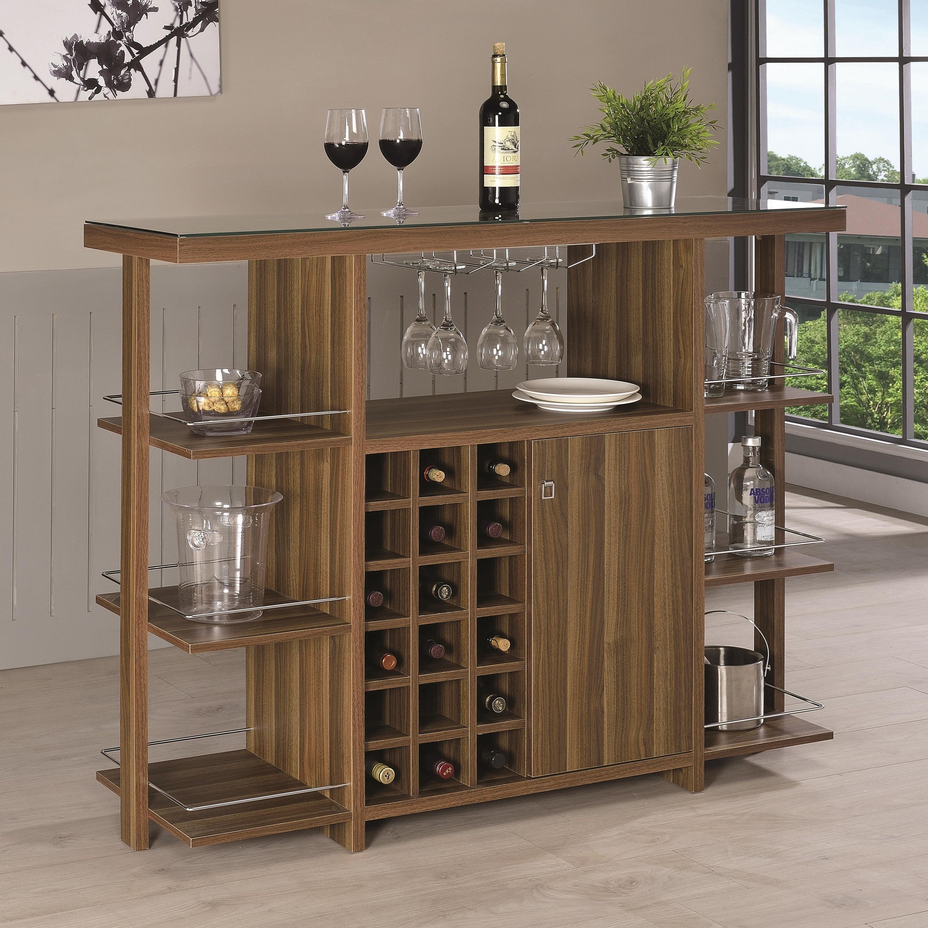 Bar Units and Bar Tables Bar Unit by Coaster at Lapeer Furniture & Mattress Center