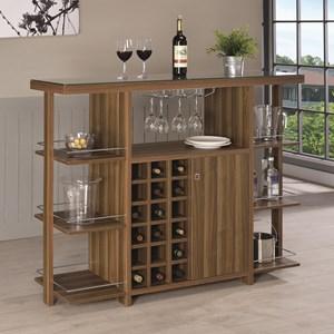 Modern Bar Unit with Wine Bottle Storage