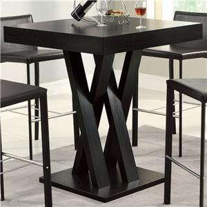 Crisscross Bar Table with Square Table Top