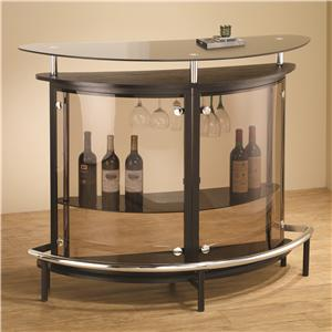 Contemporary Bar Unit with Smoked Acrylic Front