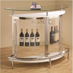 Contemporary Bar Unit with Clear Acrylic Front