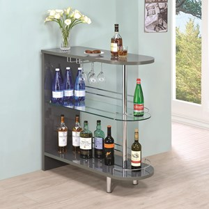 Contemporary Grey Bar Table