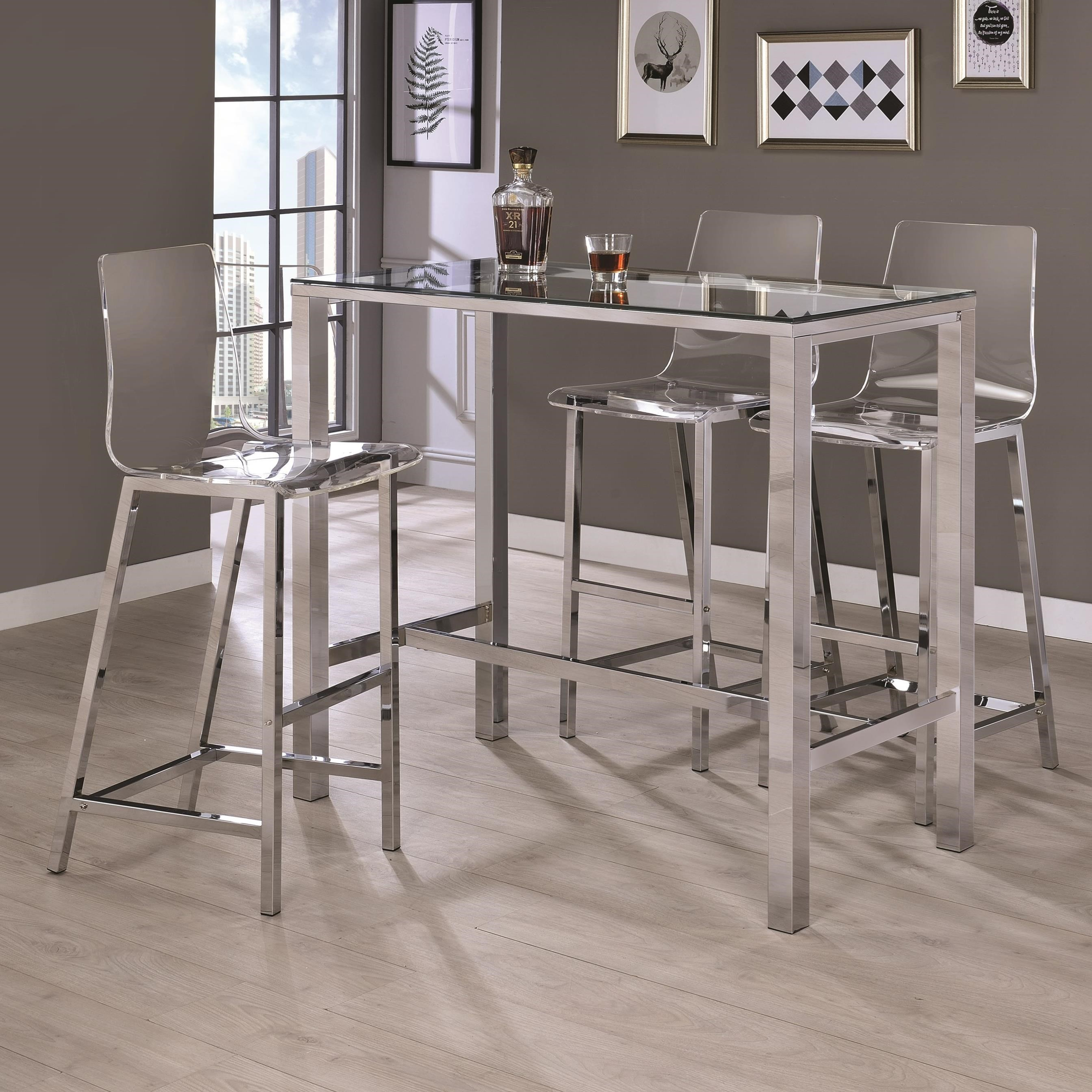 Bar Units and Bar Tables Bar Table and Stool Set by Coaster at Northeast Factory Direct