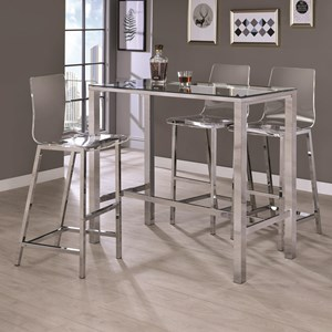 Contemporary Bar Table and Stool Set