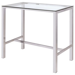 Contemporary Bar Table with Glass Top