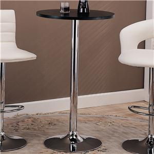 Round Bar Table with Chrome Base