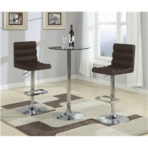 Coaster Bar Units and Bar Tables 3 Piece Bar Table with Glass Top Set