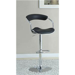 Coaster Bar Units and Bar Tables Black Adjustable Bar Stool