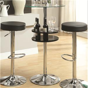 Coaster Bar Units and Bar Tables Black Bar Table