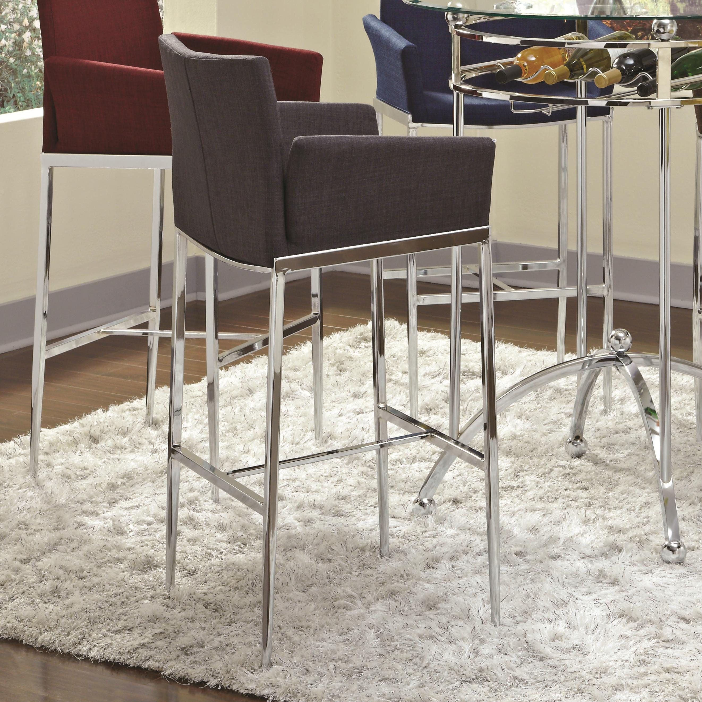 Bar Units and Bar Tables Bar Stool (Charcoal) by Coaster at Lapeer Furniture & Mattress Center
