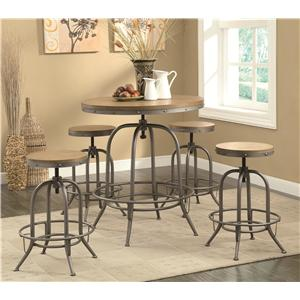 Transitional Adjustable Bar table and Stool Set