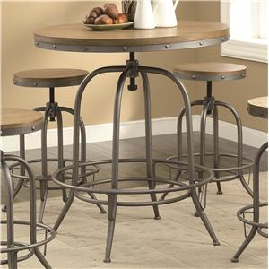 Transitional Adjustable Bar Table