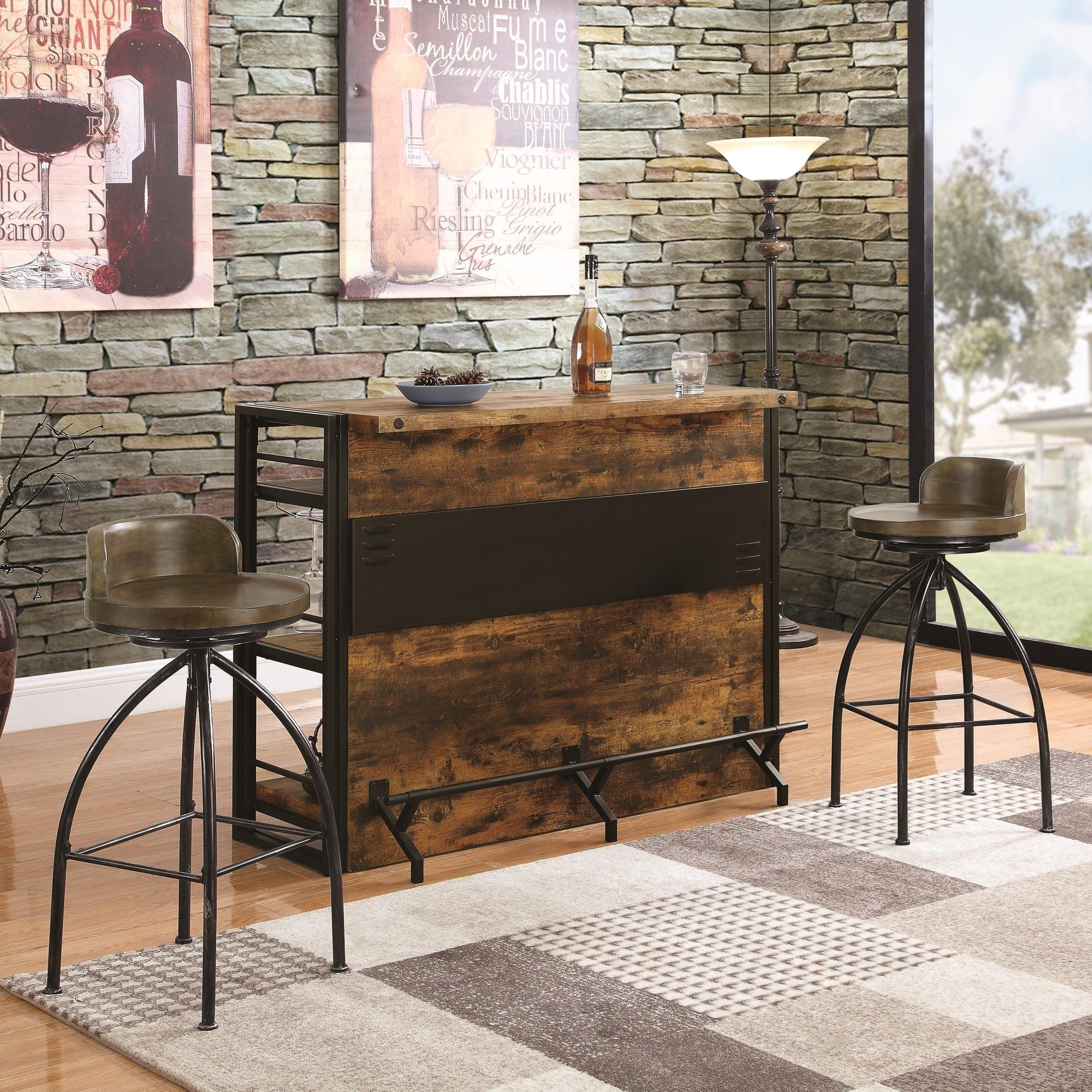 Bar Units and Bar Tables Bar and Stool Set by Coaster at Lapeer Furniture & Mattress Center