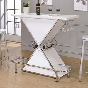 Contemporary X-Shaped Bar