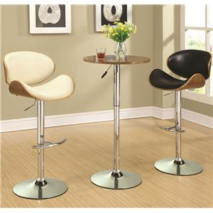 Adjustable Bar Table Set with Stools