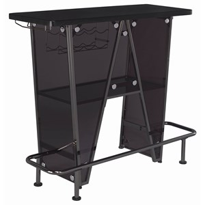 Contemporary Dark Charcoal Metal Bar Unit