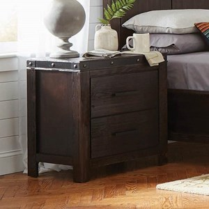 Rustic Nightstand with Cord Access