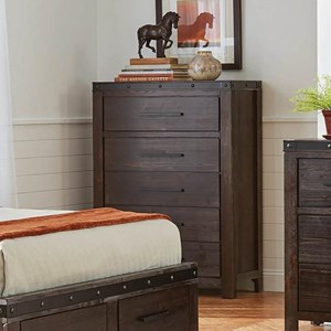 Rustic Chest of Drawers with Felt-Lined Top Drawer
