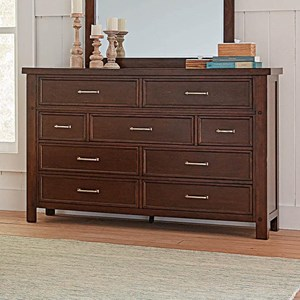 Transitional Dresser with Felt-Lined Top Drawers