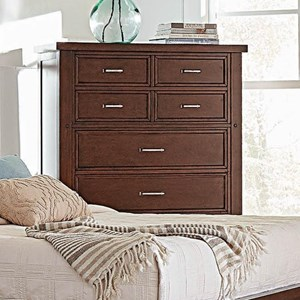 Transitional Chest of Drawers with Felt-Lined Top Drawers