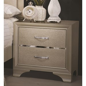 Glamorous Nightstand with Two Drawers