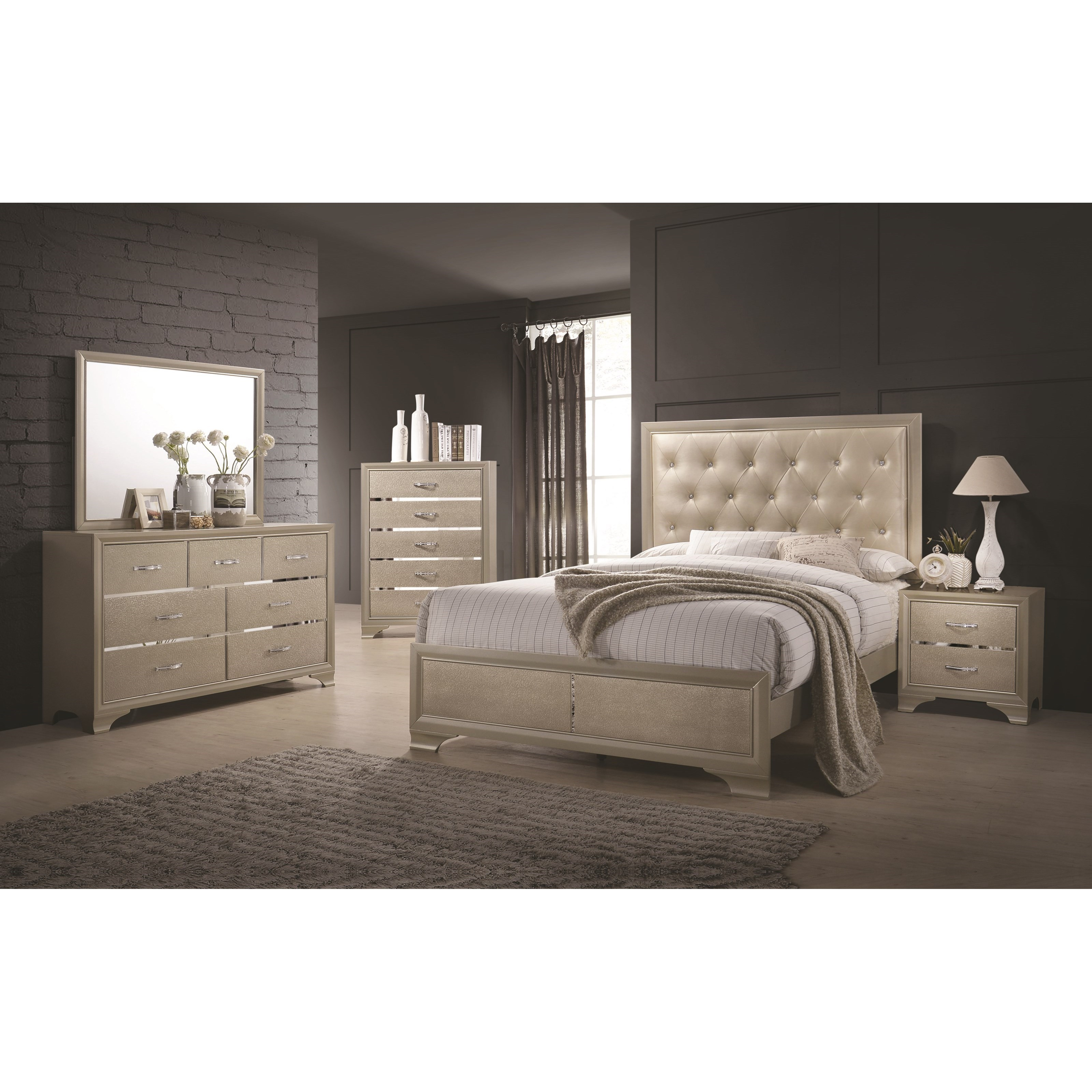 Beaumont Queen Bedroom Group by Coaster at Northeast Factory Direct