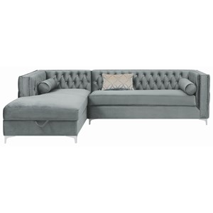 Tufted Sectional with Storage Chaise