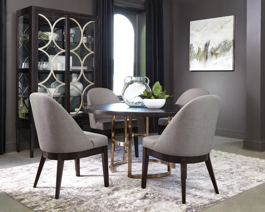 Benton 5-Piece Round Dining Set by Coaster at Beck's Furniture