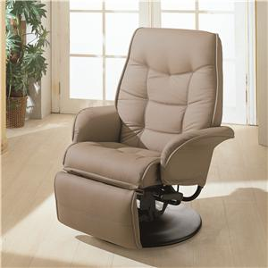 Swivel Recliner with Flared Arms
