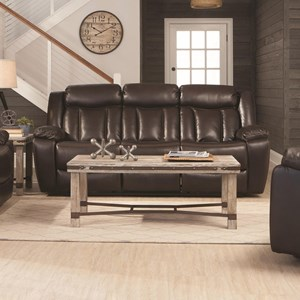 Motion Sofa with Channeled Backrest