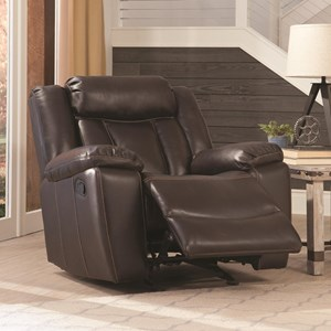 Casual Glider Recliner with Channeled Backrest