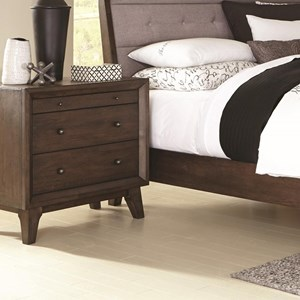 3 Drawer Night Stand with Top Felt-Lined Drawer