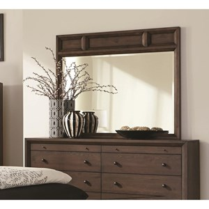 Mirror with Wood Panel Frame