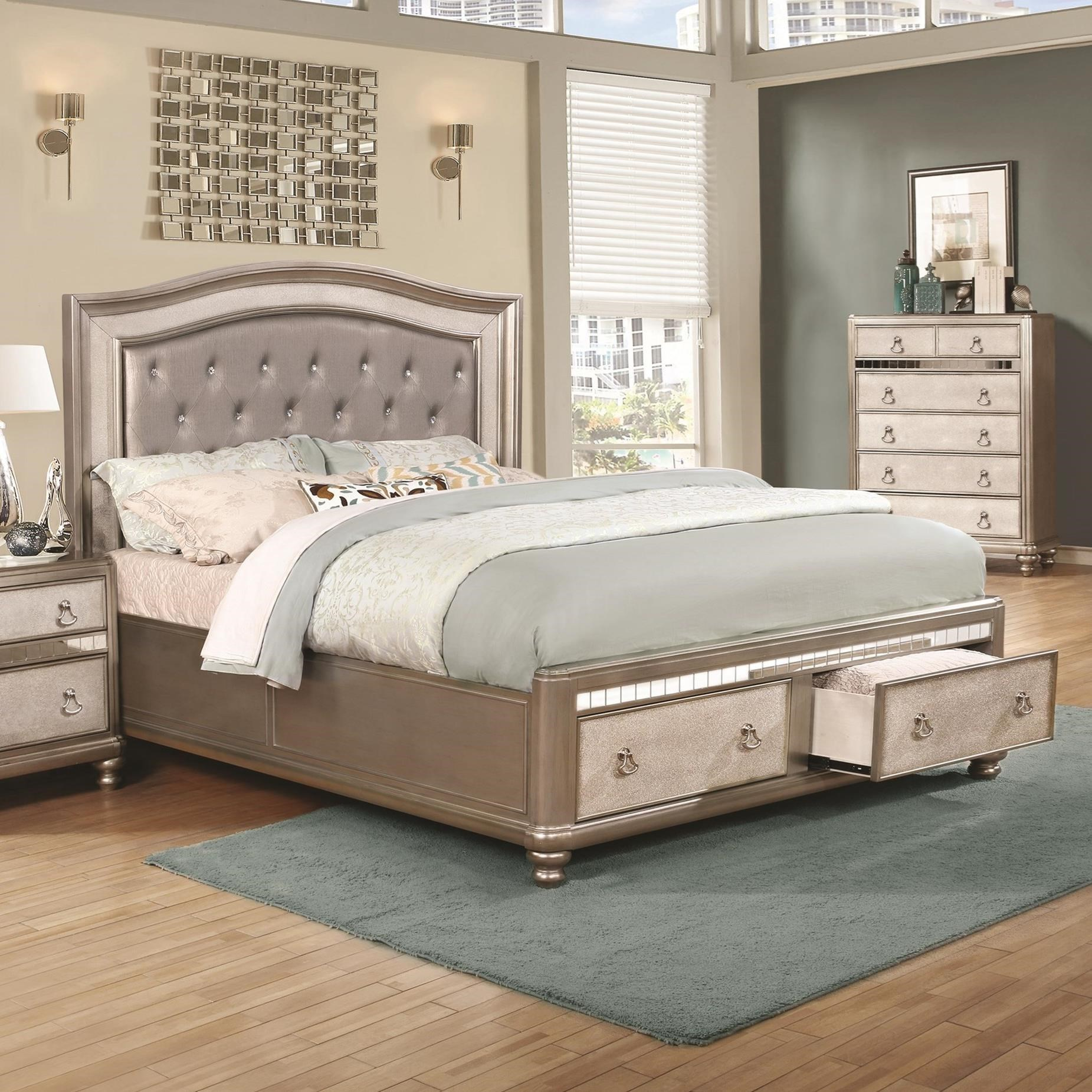 Bling Game Upholstered California King Bed by Coaster at Northeast Factory Direct