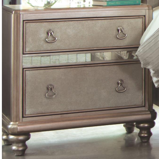 Bling Game Nightstand with 2 Drawers by Coaster at Northeast Factory Direct
