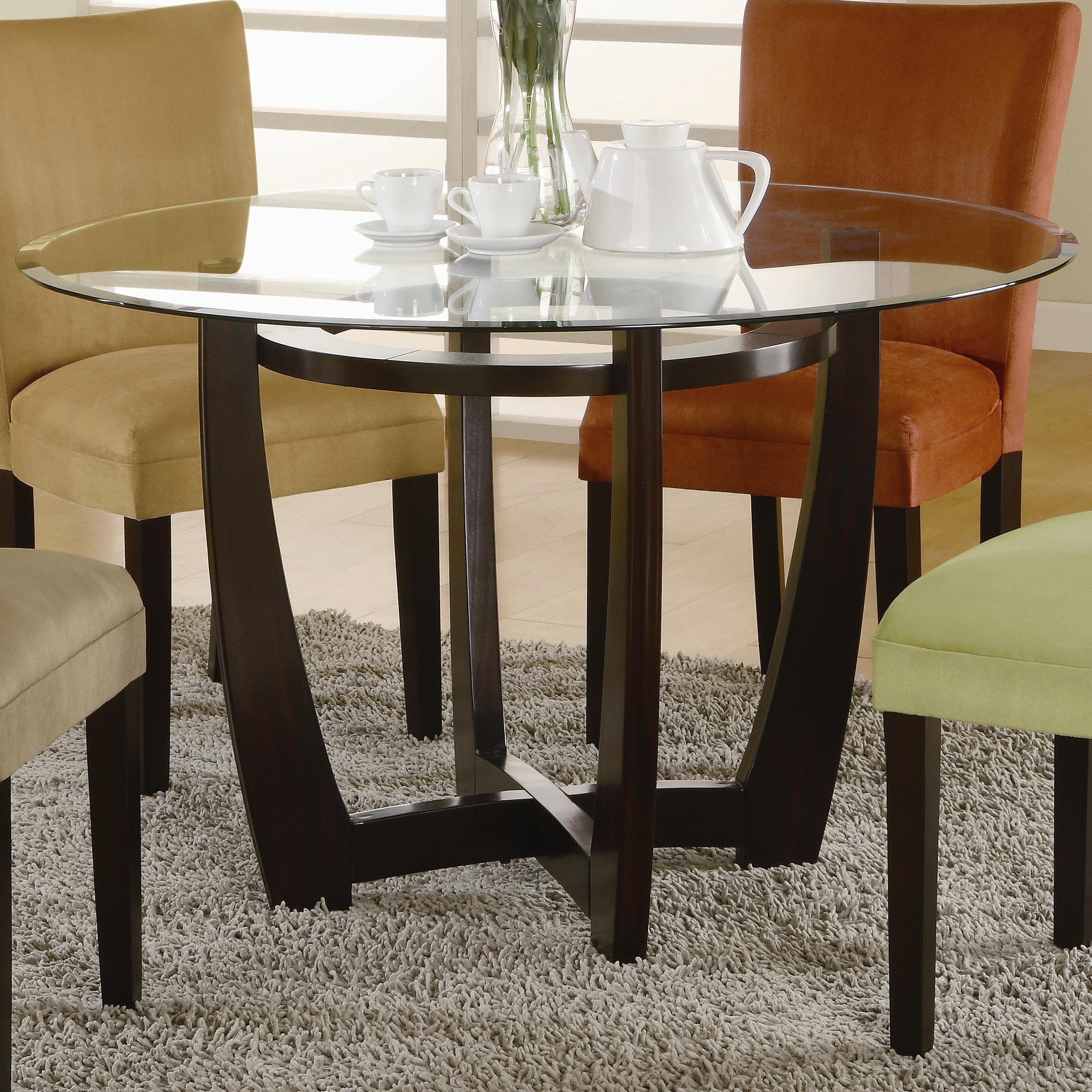 Bloomfield Round Table Base and Beveled Glass Top by Coaster at Northeast Factory Direct