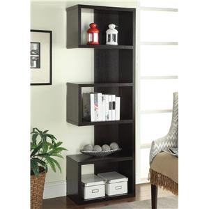 Cappuccino Semi-Backless Bookshelf