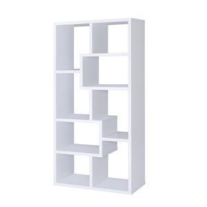 Multiple Cubed Rectangular Bookcase, White
