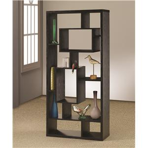 Asymmetrical Cube Book Case with Shelves