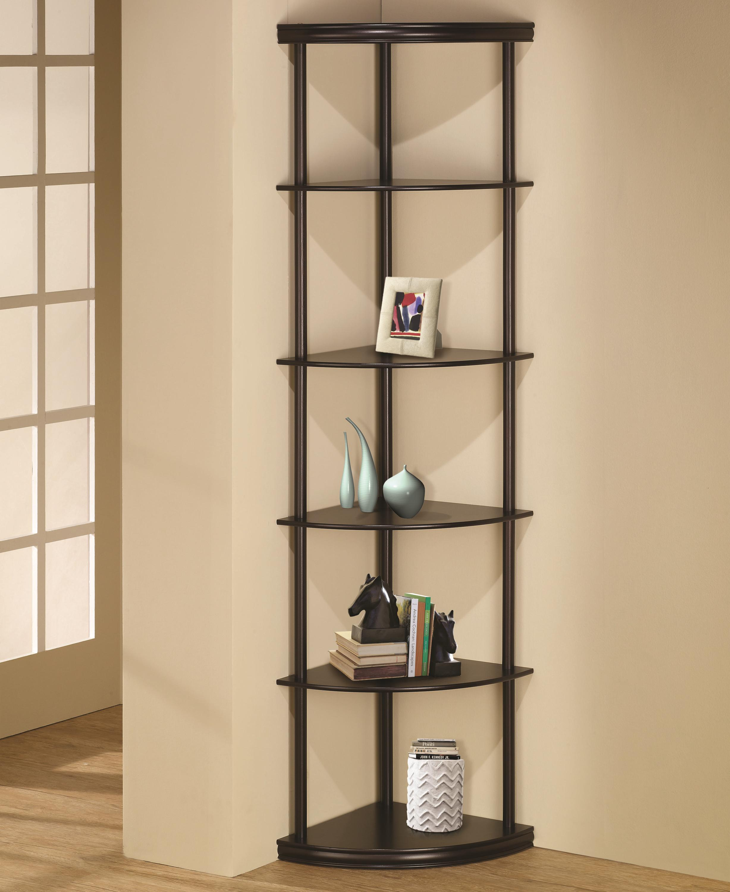 Bookcases Corner Bookshelf by Coaster at Northeast Factory Direct