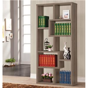 Multiple Cubed Rectangular Bookcase, Weathered Grey