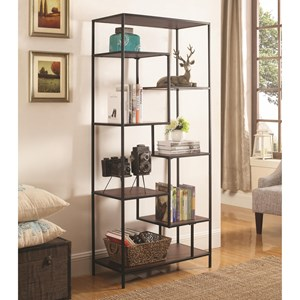 7 Shelf Steel Framed Bookcase