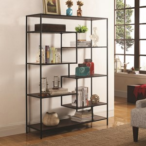 Modern Bookcase with Offset Shelves