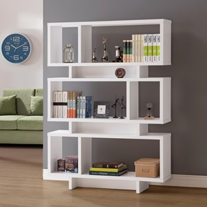 Contemporary Geometric Bookcase