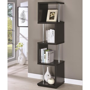 Modern Four Tier Bookcase