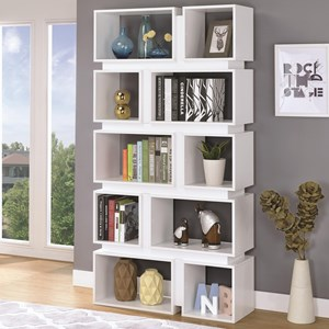 10 Shelf Geometric Bookcase