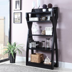 Black Bookcase with X-Design