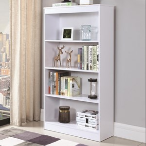 4 Shelf Transitional Bookcase